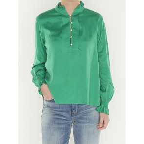 tunic top with ruffled collar- 149813