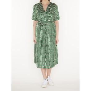 midi length wrapover dress -133730