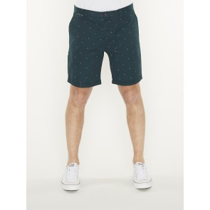 all-over printed chino short in pima cotton quality-148818
