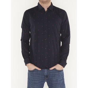 REGULAR FIT- classic all over printed shirt -148846