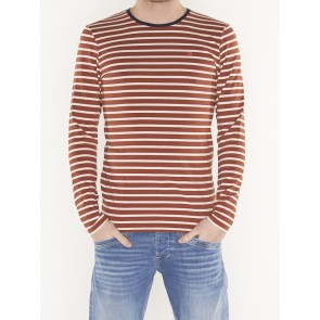 classic striped cotton/elastane longsleeve tee