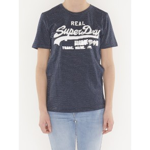 VINTAGE LOGO SPARKLE STRIPE ENTRY TEE