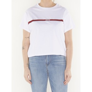 GRAPHIC VARSITY TEE LEVI'S TEXT TAPE WHI