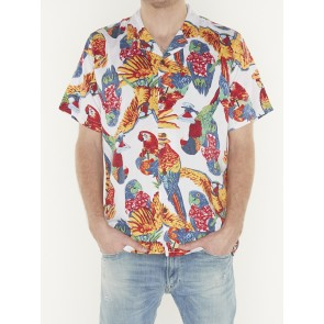 CUBANO SHIRT PARROTS BRILLIANT WHITE PRI
