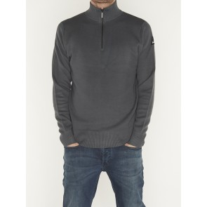 HALF-ZIP WALL KNIT
