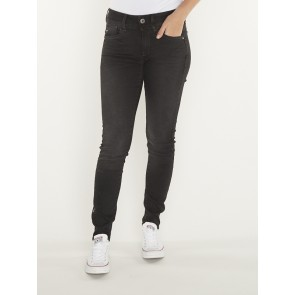 LYNN MID SKINNY-ELTO NERO BLACK SUPERSTRETCH-DUSTY GREY