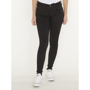 LYNN MID SUPER SKINNY-YIELD BLACK ULTIMATE TRETCH DENIM-PITCH BLACK