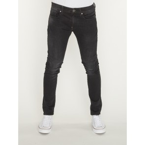 REVEND SKINNY-ELTO BLACK SUPERSTRETCH-MEDIUM AGED FADED