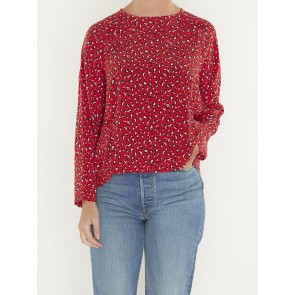 MIRANDA TOP-FUN LEOPARD BRILLIANT RED