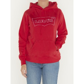 GRAPHIC SPORT HOODIE-HSMK OUTLINE BRILLIANT RED
