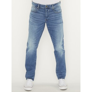 3301 TRAIGHT TAPERED-AZURE STRETCH DENIM-WORN IN AZURE