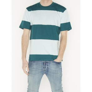 BOLD BLOCK-STRIPE TEE IN CLEAN JERSEY QUALITY 155402