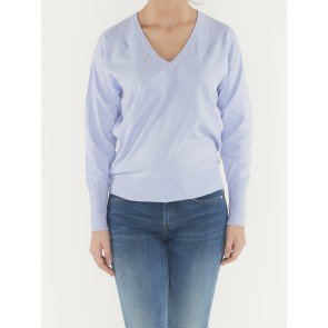 COTTON CASHMERE LOOSE KNIT WITH V-NECK 158792