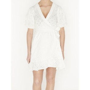 WRAP DRESSIN BRODERIE ANGLAISE 155977
