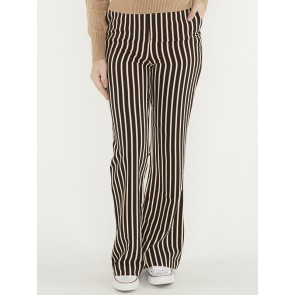 STRIPED FLARE PANTS 156492