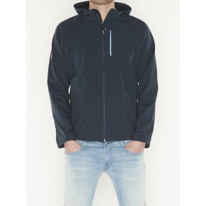 HOODED STRETCH SOFTSHELL JACKET