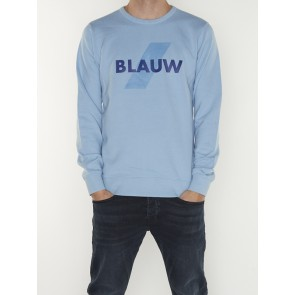 BLAUW CREW NECK LOGO SWEAT 156784