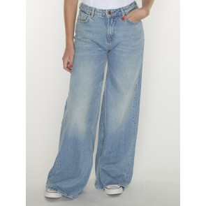 WIDE LEG HIGH RISE 156988-BLUE BUTTER