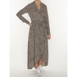VIVIAN LEOPARD DOTS BLAZER COLLAR DRESS