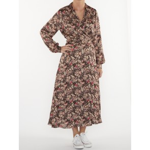 BELTED MIDI LENGTH WRAP DRESS 158972