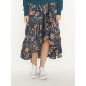 PRINTED WRAP SKIRT 159115