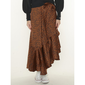 PRINTED WRAP SKIRT 162160