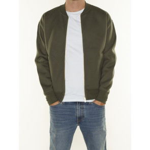 RELAXED FIT ZIP-THRU BOMBER SWEAT 163921