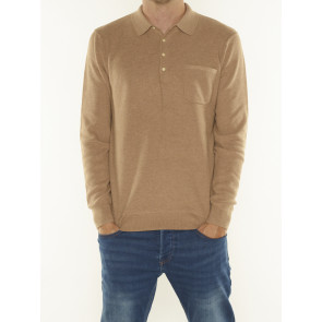KNITTED LONG-SLEEVE POLO 163985