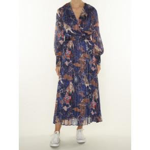 PRINTED MIDI SHIRT DRESS 163868