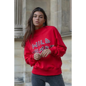 WILD HEART LOOSE FIT HIGH NECK SWEAT
