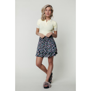 DAPHNE FLOWER TWO LAYER SKIRT