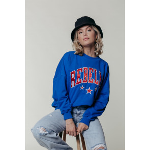 REBELLE PATCH DROPPED SHOULEDER SWEAT